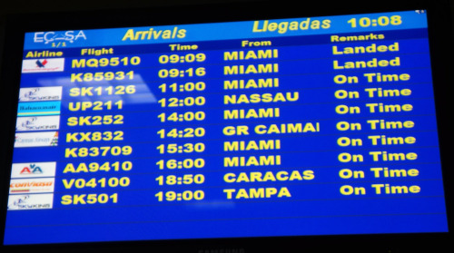 Havana Flight Info Screen