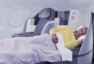 American Airlines transcontinental business class A321