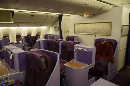 Thai Airways 777 Business Class Cabin