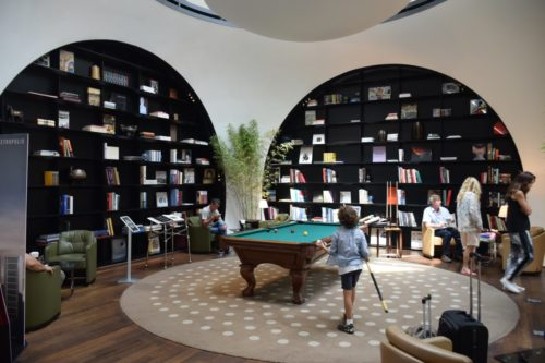 Turkish Airlines CIP Lounge Library