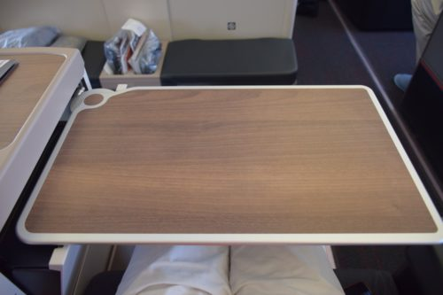 Turkish Airlines Business Class A330 - Table