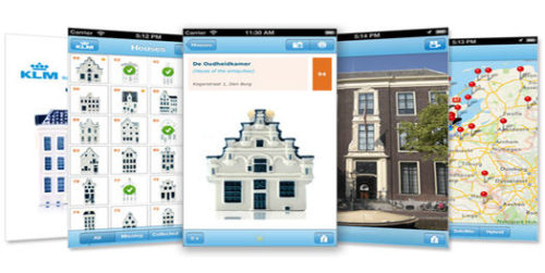 The KLM Delft Blue houses app lets you keep track of your collection and learn more about the actual houses