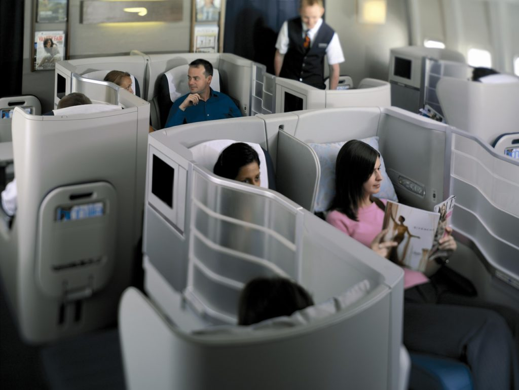 British Airways Club World (Business Class) on the 777. Source: British Airways