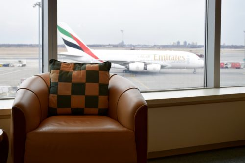 The Emirates Lounge JFK View