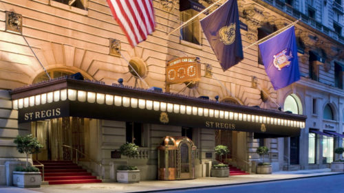 Earn 5 Marriott or Ritz Carlton points per dollar spent at the St. Regis, a SPG property, with your Marriott/Ritz-Carlton card