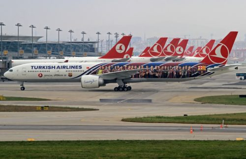 A Turkish Airlines 777-300ER. Poto by mertborak, used with permission.