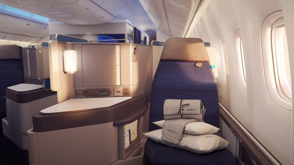 United Polaris is United's new take on the International Business Class. Source: United