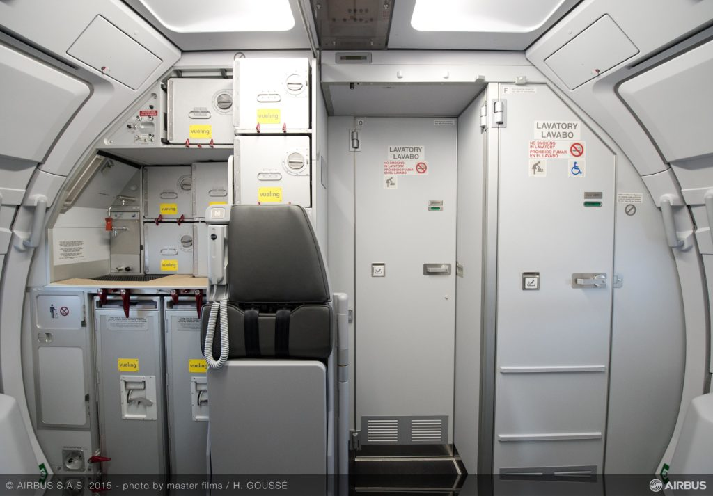 Galley cart on a Vueling A320. Source: Airbus