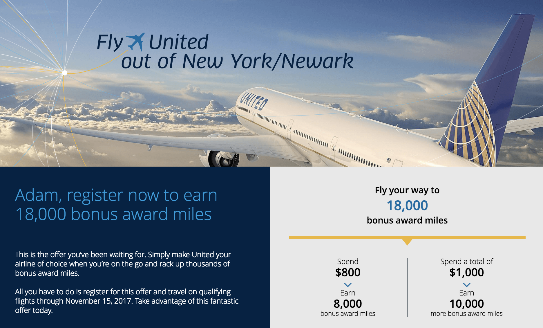 United S End Of Year Promo Up To 18k Miles Their New Billboard That Taunts Delta Jfk