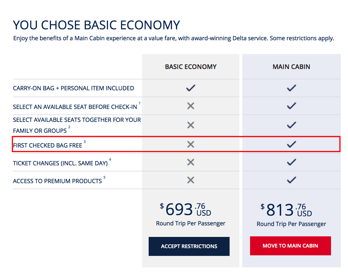 Delta Will No Longer Offer A Free Checked Bag On Flights Between Us And Europe Or