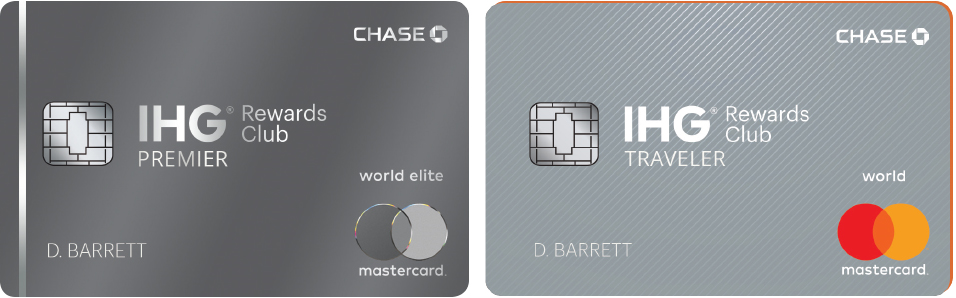 Chase's new IHG credit cards: the Premier and Traveler cards.