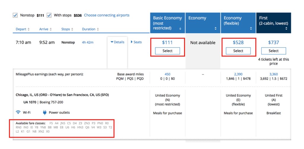 United Airlines Basic Economy Fare