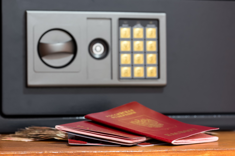 If you plan to leave your passport in the hotel room, leave it in the hotel's safe, which is much better than leaving it in a drawer or on the desk.