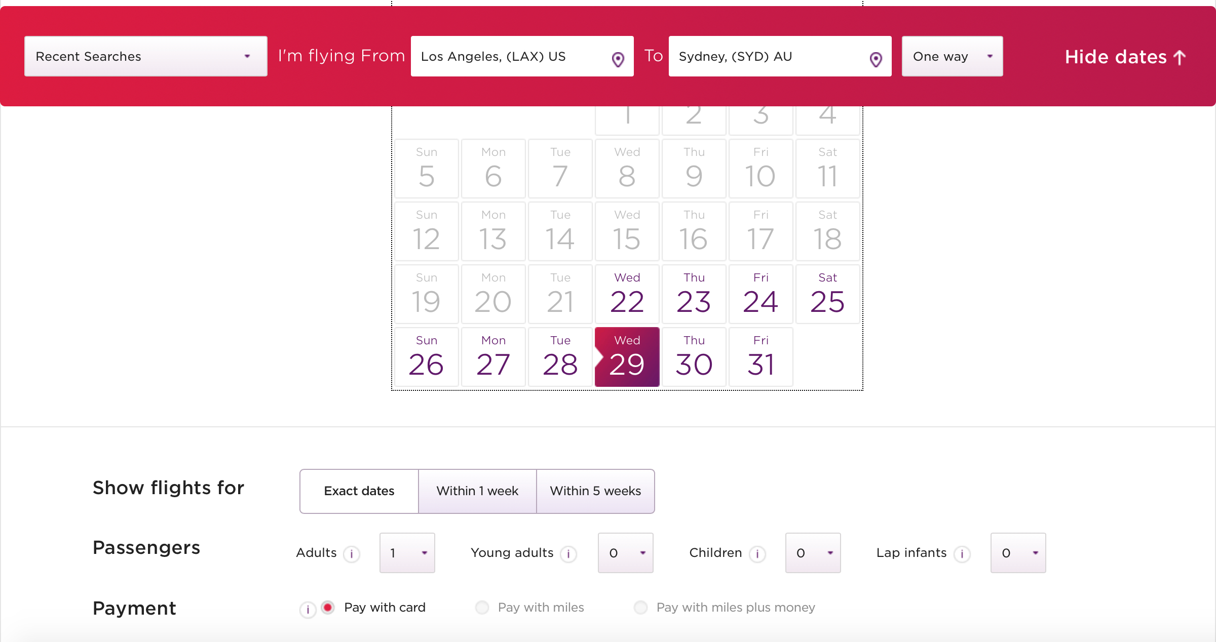 Booking Delta flights using Virgin Atlantic Flying Club