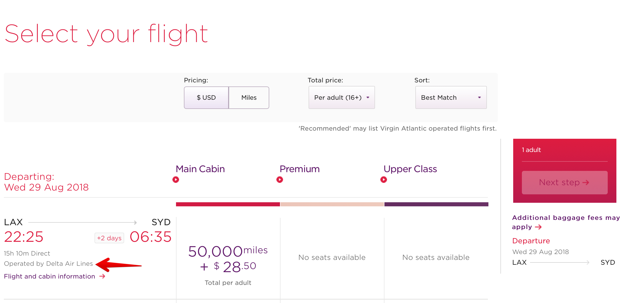 Virgin Atlantic International Flights Baggage Allowance