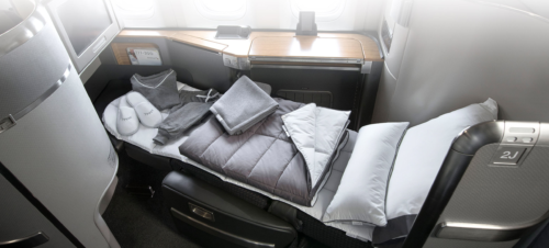 Casper bedding on American. Image by American Airlines