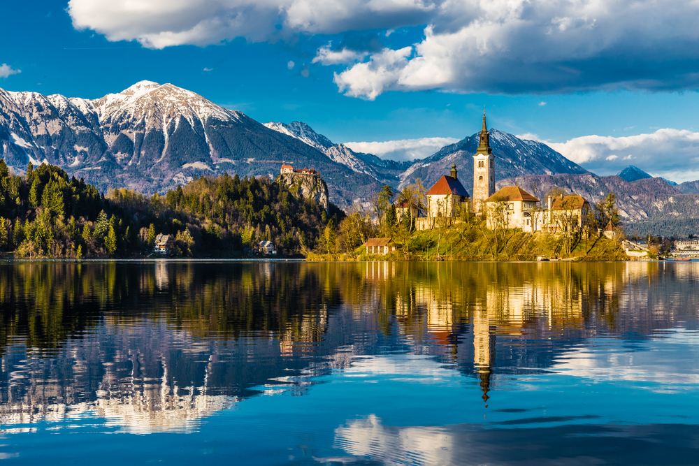 Up and coming destinations ... Slovenia's Lake Bled is an alpine village with plenty of fairy tale charm.
