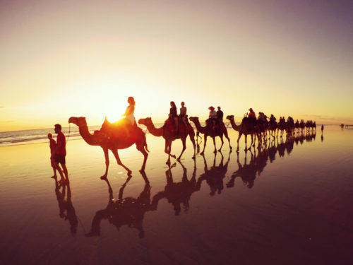 Fancy a unique experience? Ride a camel in Broome, Western Australia, one of the best up and coming destinations on our list