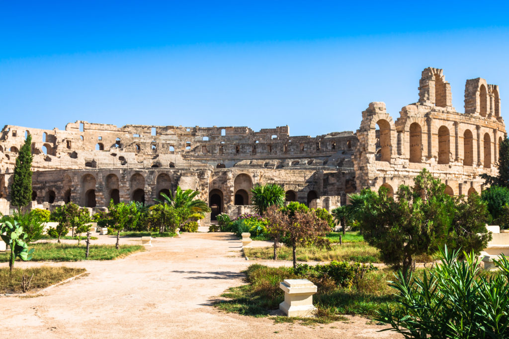 Tunisia's Roman history is still evident in the many amphitheatres and baths in the country.