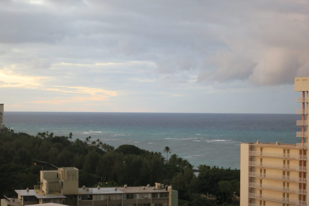 View to ocean overlooking Kapiolani Park