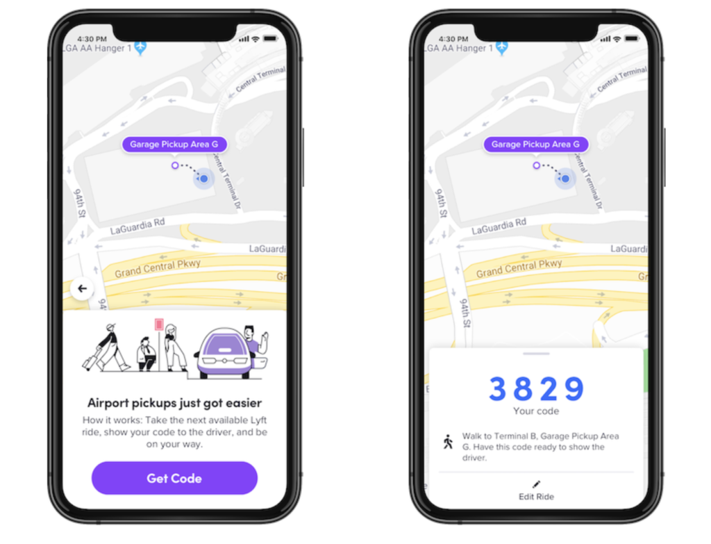 Getting a Lyft at LaGuardia Airport (LGA) just became a lot easier. Just head to the designated pickup spot and show the next available driver your unique 4-digit pin.
