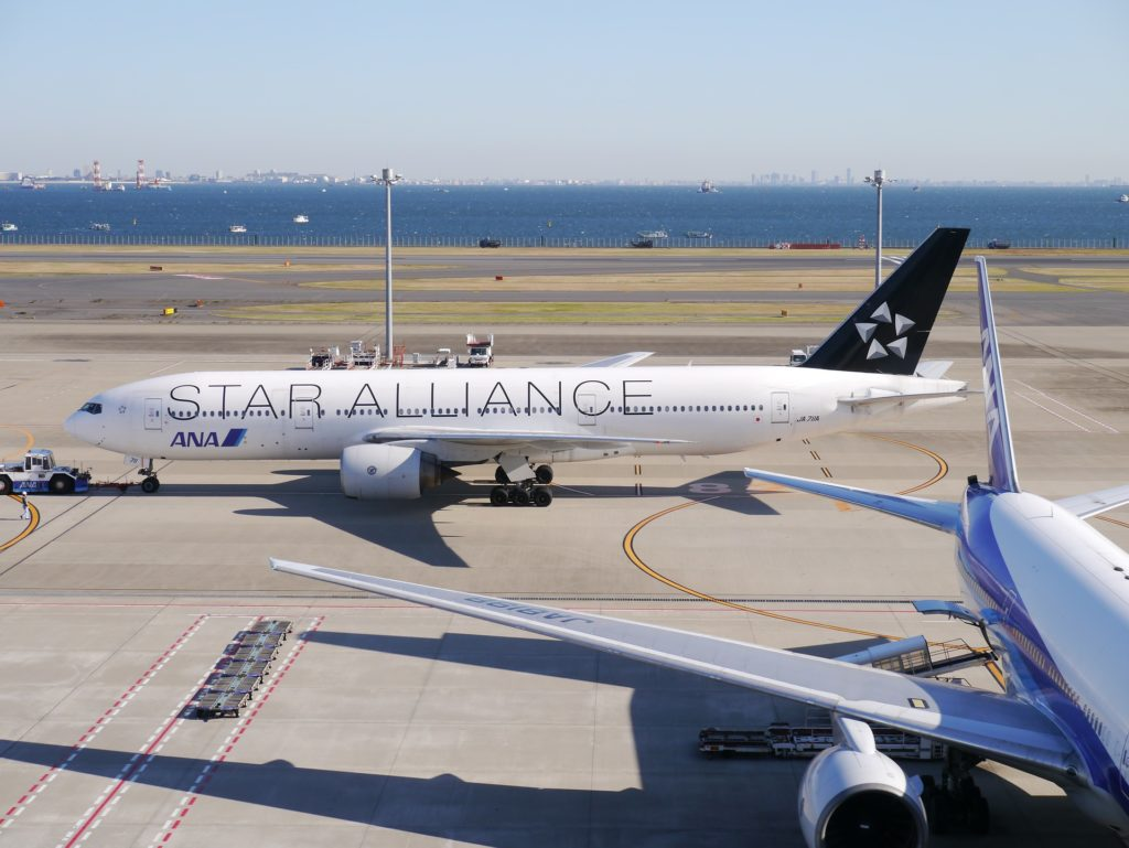 All Nippon Airways/Star Alliance livery plane