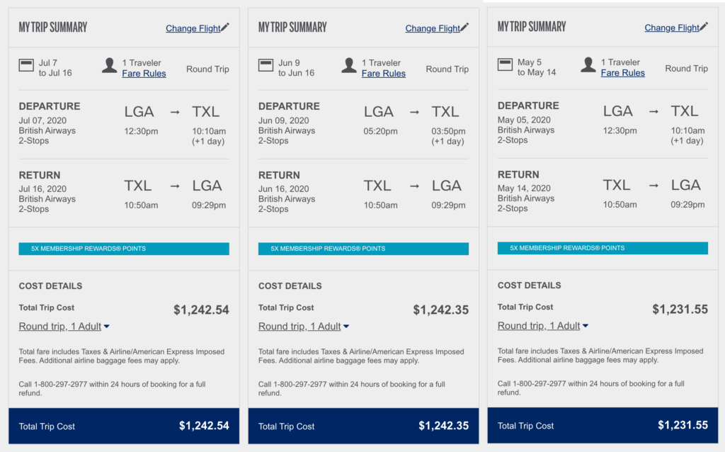 Amex-British Airways NYC Berlin fare deal