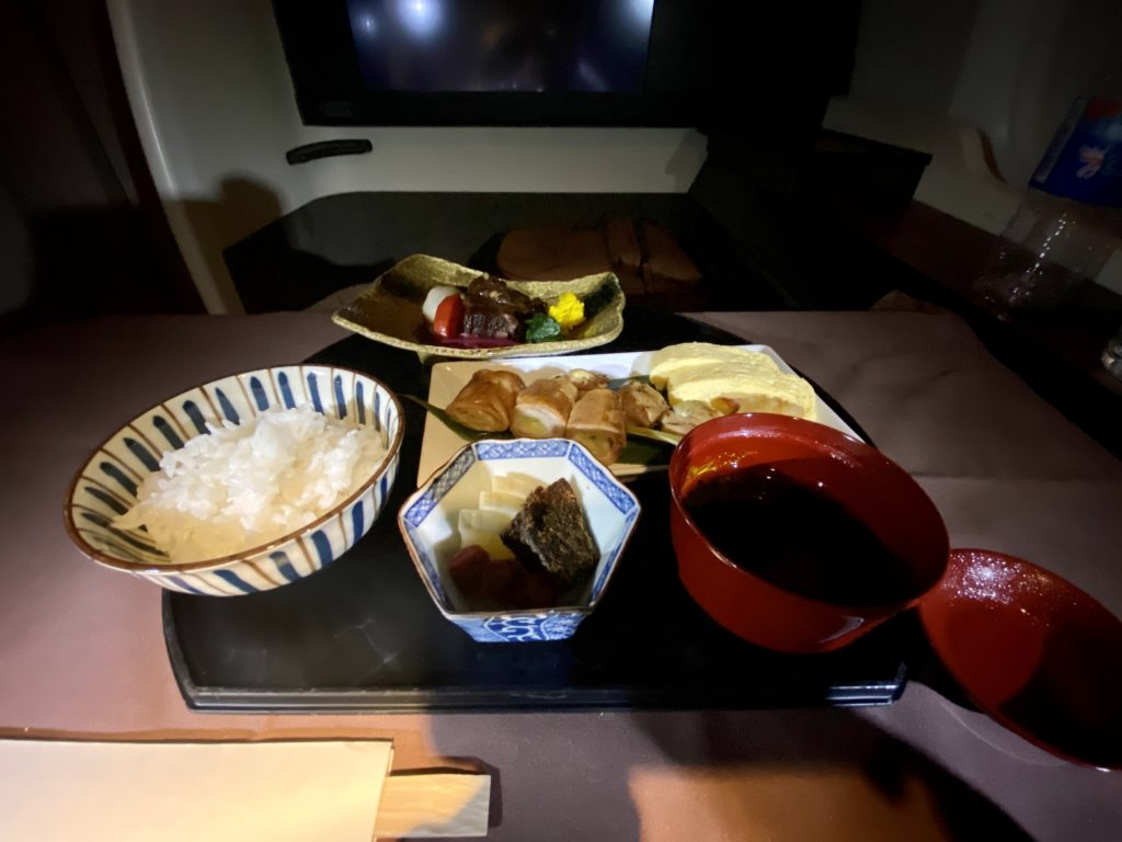 japan airlines first meal