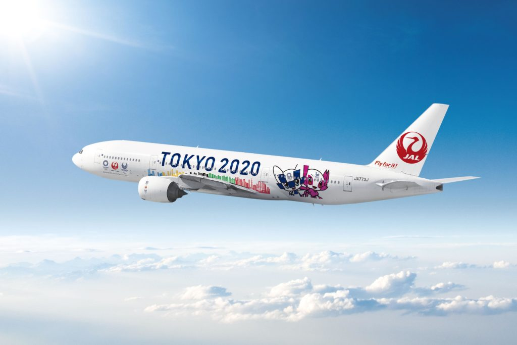 Japan Airlines Tokyo Olympics JAL 2020 Aircraft Livery