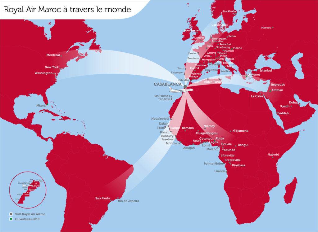 Royal Air Maroc routemap