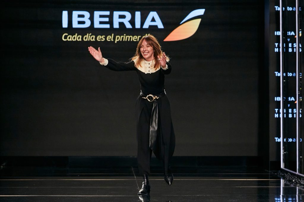 Iberia partnered with Catalonian designer Teresa Helbig to design its new uniform collection. Iberia photo.