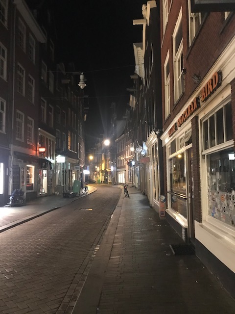 Amsterdam's empty streets during pandemic