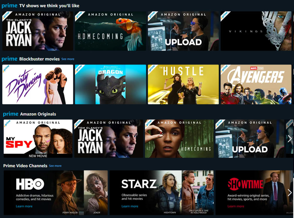 Amazon Watch Party Prime Video Selections