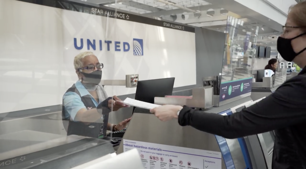 United Check-in Desk Health Checklist
