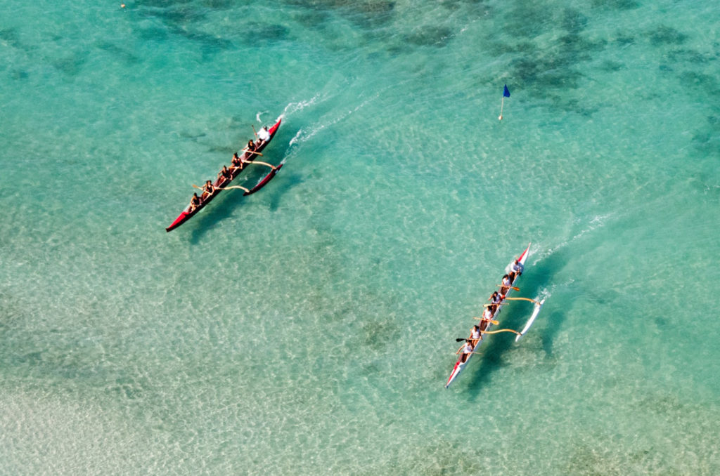Hawaii Arresting Social Distancing Violators Outrigger Canoe Waikiki Beach