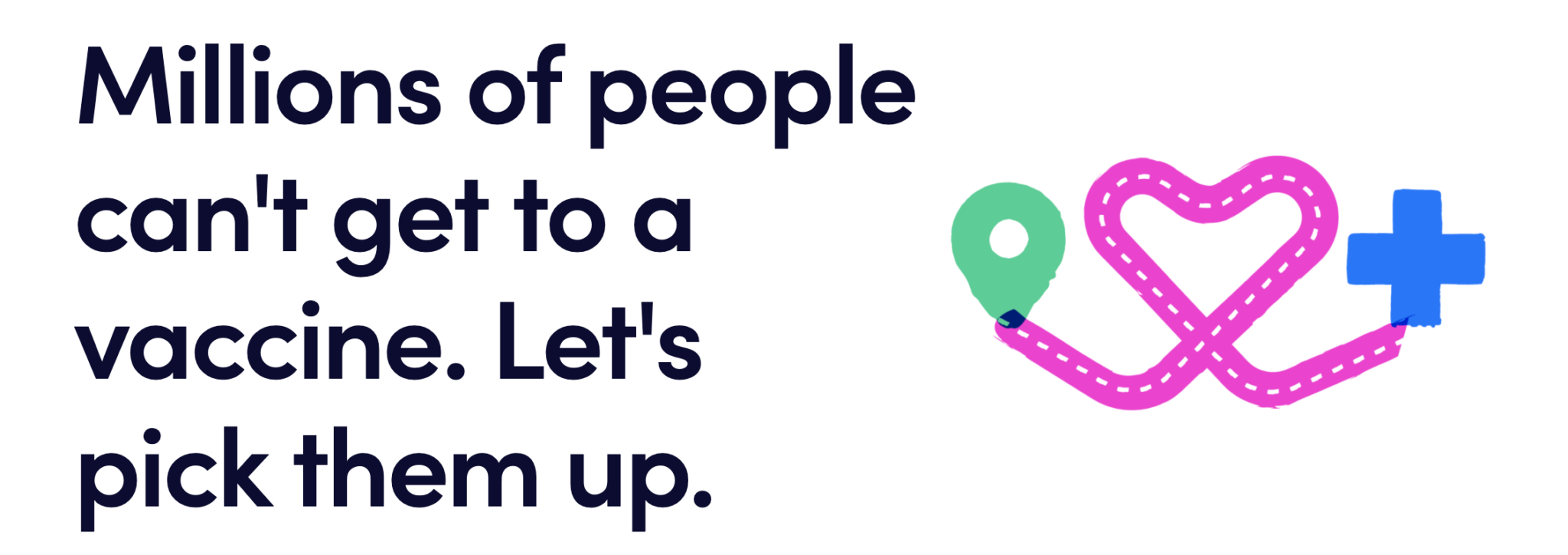 Promotional image of Lyft's vaccine access program
